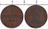 Изображение Монеты Ганновер 1 пфенниг 1843 Медь VF