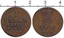 Изображение Монеты Ганновер 1 пфенниг 1794 Медь XF-