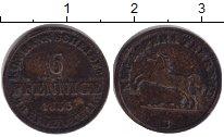 Изображение Монеты Ганновер 6 пфеннигов 1855 Серебро VF