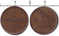 Изображение Монеты Брауншвайг-Вольфенбюттель 1 пфенниг 1856 Медь XF