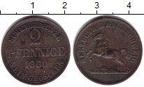 Изображение Монеты Брауншвайг-Вольфенбюттель 2 пфеннига 1860 Медь XF-