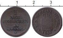 Изображение Монеты Саксония 1 грош 1855 Серебро VF