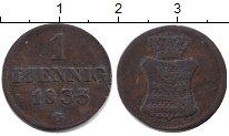 Изображение Монеты Саксония 1 пфенниг 1833 Медь VF