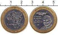 Изображение Монеты Центральная Африка 4500 франков 2007 Медно-никель XF Голова слона на фоне