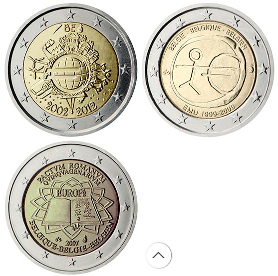 Монеты 2 евро выпущенные Совместно всеми странами